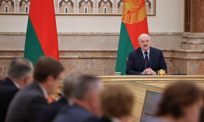 Präsident Alexander Lukaschenko duldet keinen Widerstand im Internet.