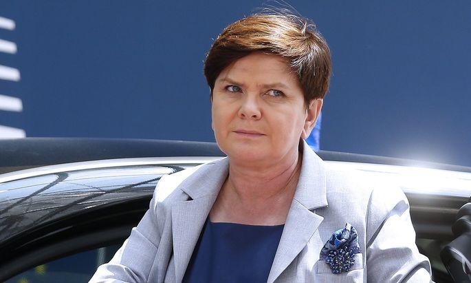 Polens Regierungschefin, Beata Szydło.