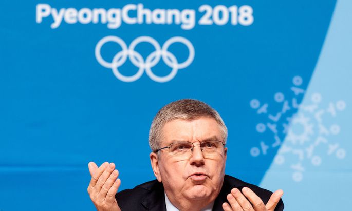 OLYMPISCHE WINTERSPIELE PYEONGCHANG 2018: PK IOC: BACH