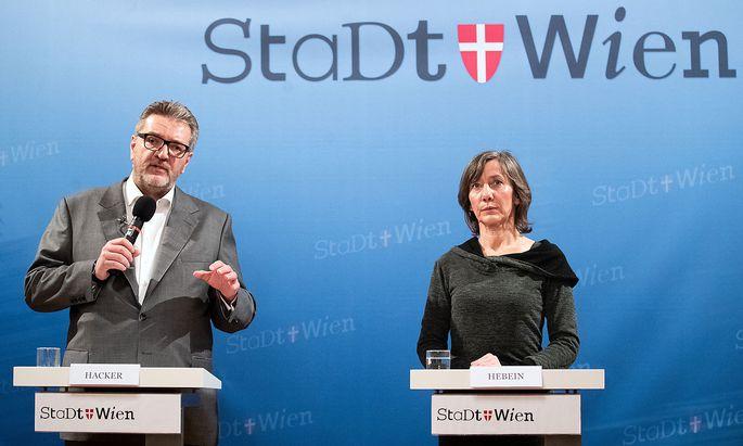 Wiens Sozialstadtrat Peter Hacker (SPÖ) und die designierte Grünen-Spitzenkandidatin Birgit Hebein