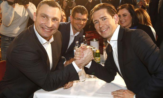 Der frühere Schwergewichtsboxer Vitali Klitschko erschien als Stargast.