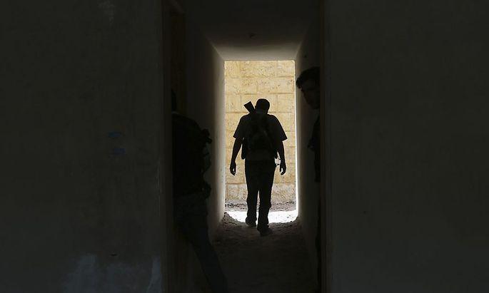 Symbolbild: Ein Kämpfer in Damaskus