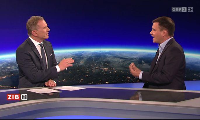 Armin Wolf (ORF) und Michael Schickhofer (SPÖ)