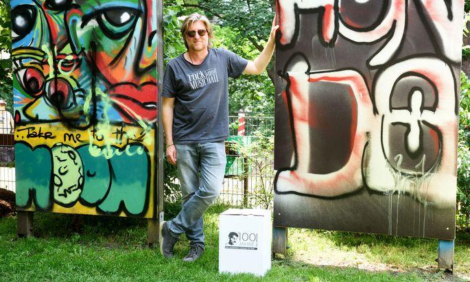 Künstler und Kulturvermittler Dominik Nostitz hat sich das Audio-Museum ausgedacht.