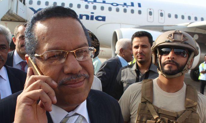 Präsident Abd Rabbo Mansour Hadi bat die von Saudi-Arabien angeführte Militärkoalition um Unterstützung