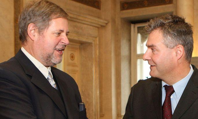 BVT-Chef Peter Gridling und sein Vorgänger Gert-Rene Polli