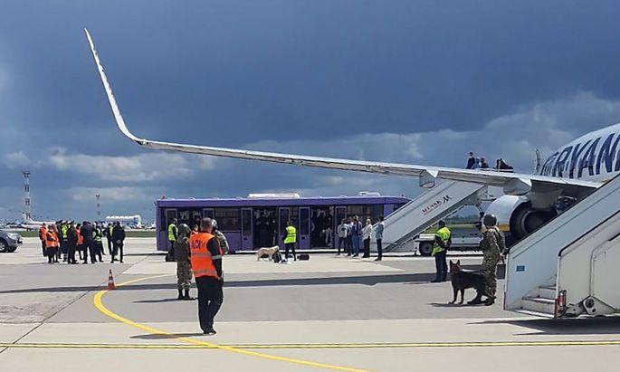Der Flug des Anstoßes: eine Ryanair-Maschine musste in Minsk notlanden. Blogger Roman Protassewitsch wurde festgenommen.