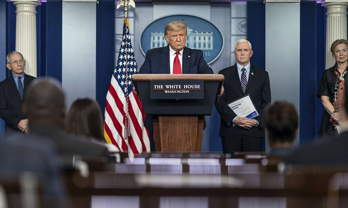March 26, 2020, Washington, DC, United States of America: U.S President Donald Trump addresses remarks during the daily
