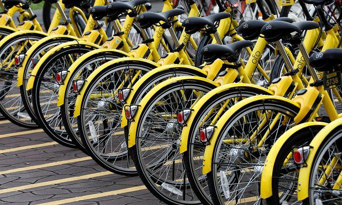 Obike und Ofo (Bild) bieten derzeit gemeinsam 1500 Leihräder an.