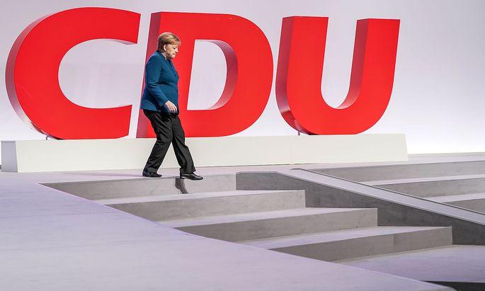 Archivbild vom Bundeskanzlerin Angela Merkel beim Bundesparteitag der CDU.