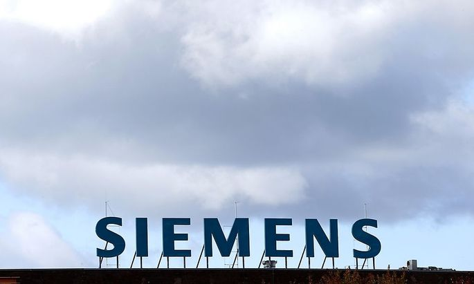 File photo of the Siemens AG company logo in Berlin
