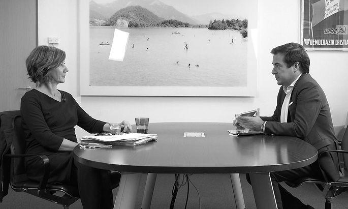 Birgit Hebein im Interview mit Rainer Nowak