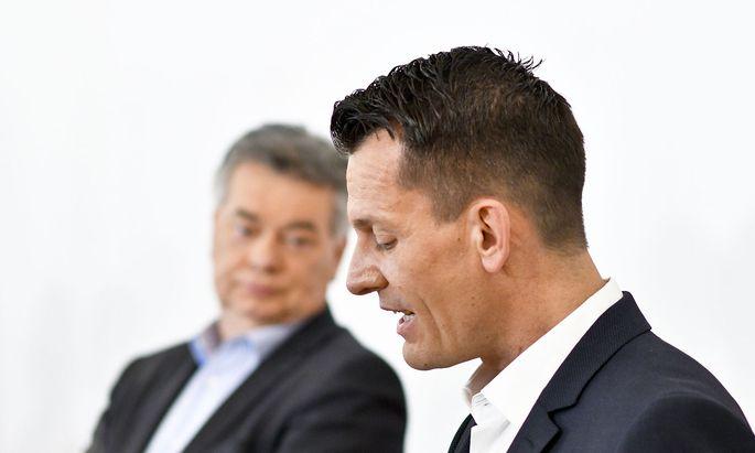 Vizekanzler Werner Kogler und Gesundheitsminister Wolfgang Mückstein (beide Grüne)