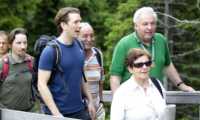 Wandern mit Bundeskanzler Sebastian Kurz