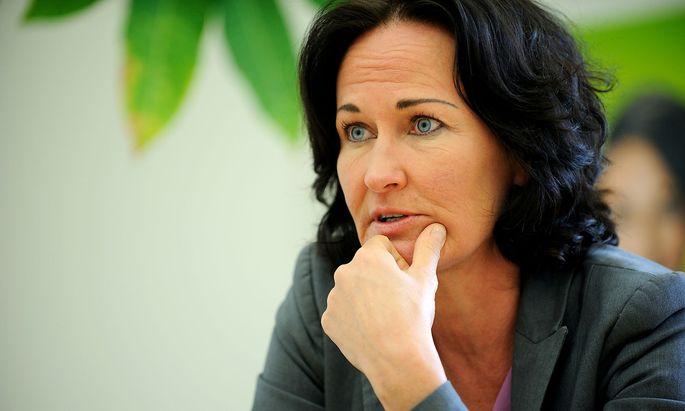 """Die Grüne Parteichefin: """"Es ist sehr schwierig, wenn anonyme Kritik geäußert wird."""""""
