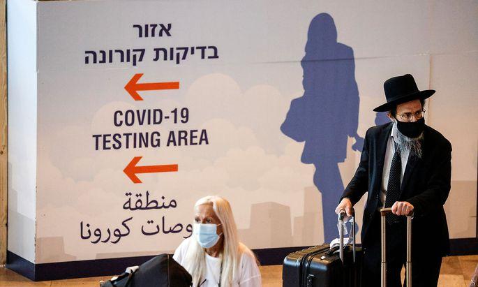Archivbild vom Ankunftsbereichs des Ben Gurion-Flughafens in Tel Aviv.
