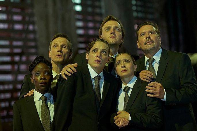 Was lauert dort auf uns? (Von links:) Debbie Korley, Markus Scheumann, Katharina Lorenz, Jan Bülow, Annamária Láng und Michael Maertens