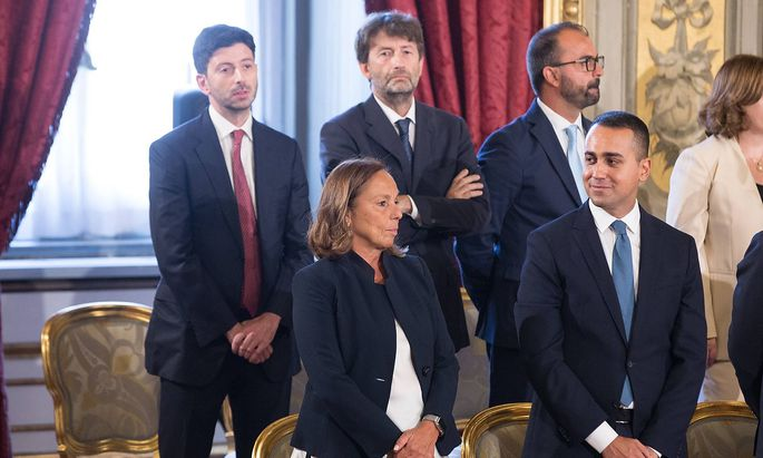 Italy Oath Ceremony of New Government Conte Bis Luigi Di Maio Luciana Lamorgese Dario Franceschin