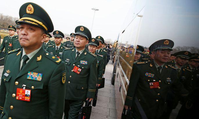 Militär-Delegierte beim Volkskongress
