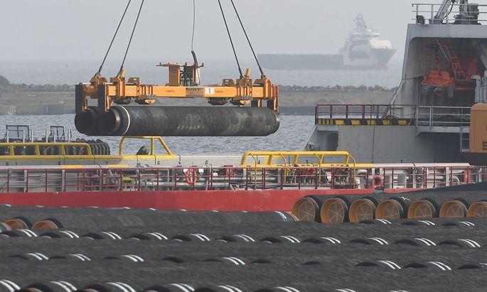 Bauarbeiten für Nord Stream 2