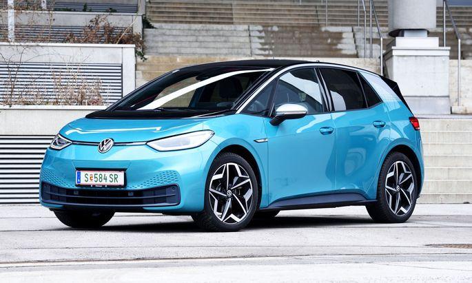 Der ID.3, das erste E-Auto von VW auf der neuen Elektroplattform