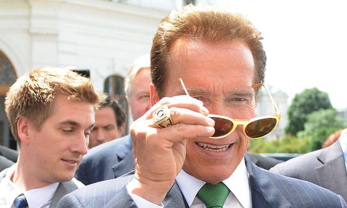 Arnold Schwarzenegger kam zum Firmenfestakt von Kreisel Electric ins Mühlviertel