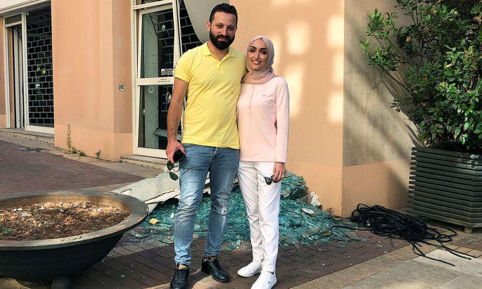 Braut Israa Seblani und Ehemann Ahmad Subeih wurden nicht verletzt.