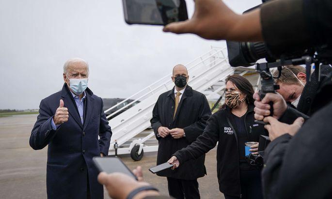 Joe Biden am Freitag in New Castle, Delaware.