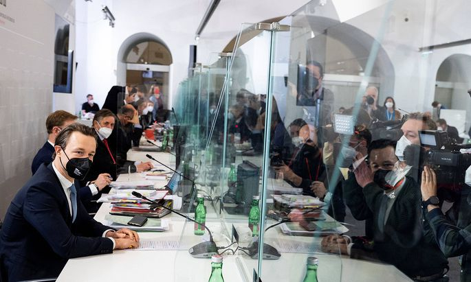 20210407 42. Session of the parliamentary investigation committee concerning the Ibiza affair VIENNA, AUSTRIA - APRIL 7