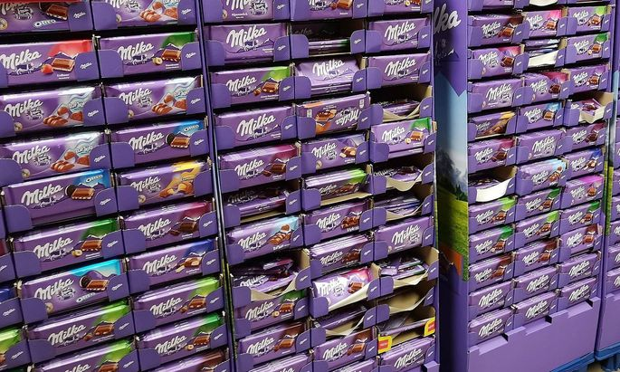 29 10 2018 Waldshut Deutschland Milka Schokolade in einem Discounter *** 29 10 2018 Waldshut Germa