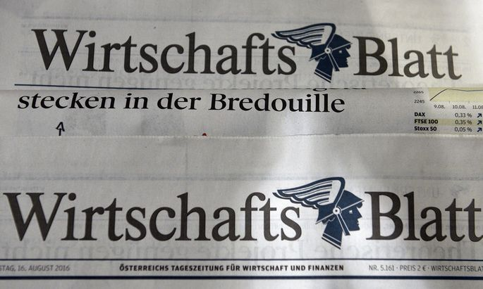 'WIRTSCHAFTBLATT' WIRD EINGESTELLT