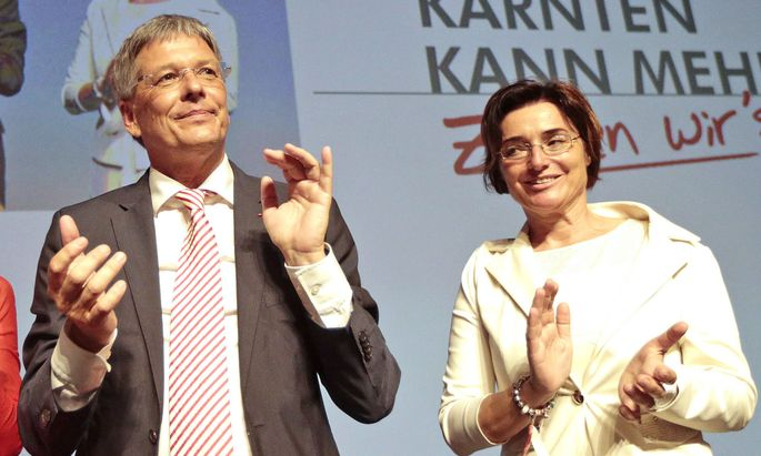 Kärntens Landeshauptmann Peter Kaiser und Beate Prettner (beide SPÖ)