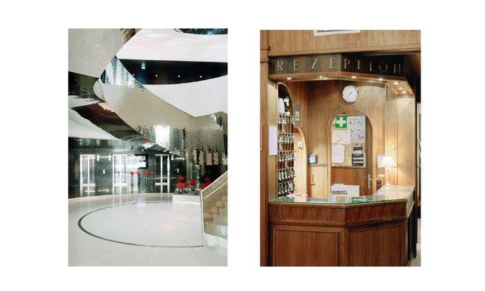 Hier Thalers Aufnahmen der Lobbys von Meliá Vienna, Hotel Domizil.