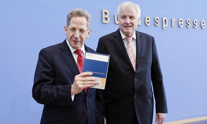 Verfassungsschutz-Chef Maaßen mit Innenminister Horst Seehofer.