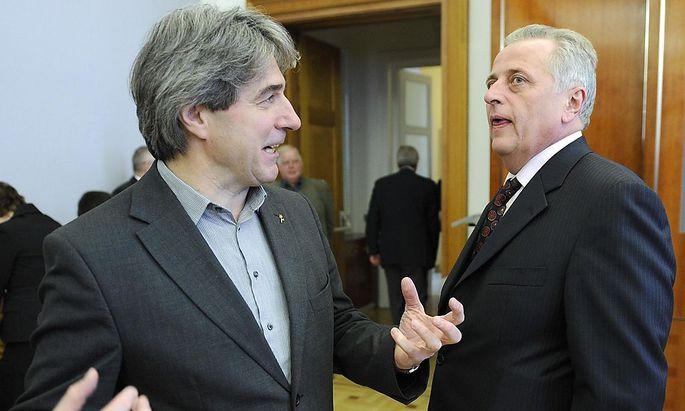 Erwin Buchinger und Sozialminister Rudolf Hundstorfer, 2008