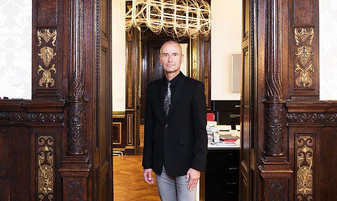 Robert Buchbauer im Oktober 2020 bei einem Interview in Wien.