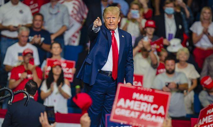 Donald Trump im Wahlkampfeinsatz