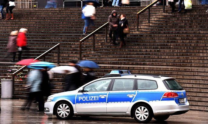 Polizeiautos in Köln.