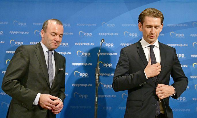 In Sebastian Kurz hat Weber einen wichtigen Verbündeten für seine Spitzenkandidatur gefunden.