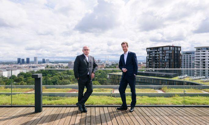Erste-Group-Chef Spalt und AUA-Chef von Hoensbroech haben eine gemeinsame Mission: Sie plädieren für ein starkes, geschlossenes Europa.