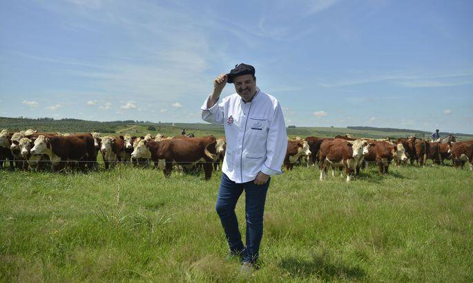 Johann Lafer ist gerade dabei, seine eigene Landwirtschaft aufzubauen.