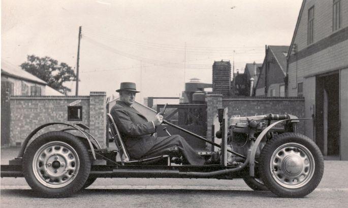 So wird der Morgan bis heute gebaut: Typ 4/4 von 1936. Ab 2020 ist Schluss mit Leiterrahmen. Eschenholz bleibt.