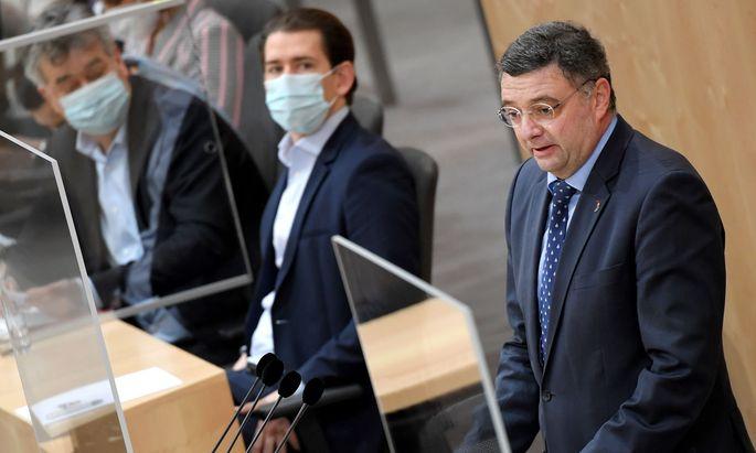 Kurz habe Österreich zur Lachnummer bei den EU-Staats- und Regierungschefs gemacht, und Österreich bekäme zu wenig Impfstoffe, kritisiert Leichtfried. (Archivbild)