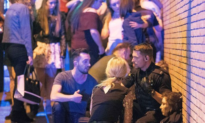 May 22 2017 Manchester Manchester UK Manchester UK Police and other emergency services are