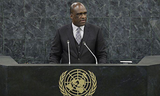 John Ashe bei der UN-Generalversammlung.
