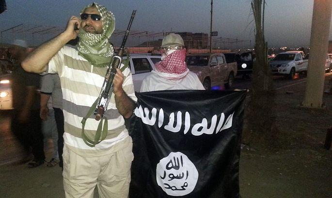 IS-Kämpfer in Mossul im Irak.