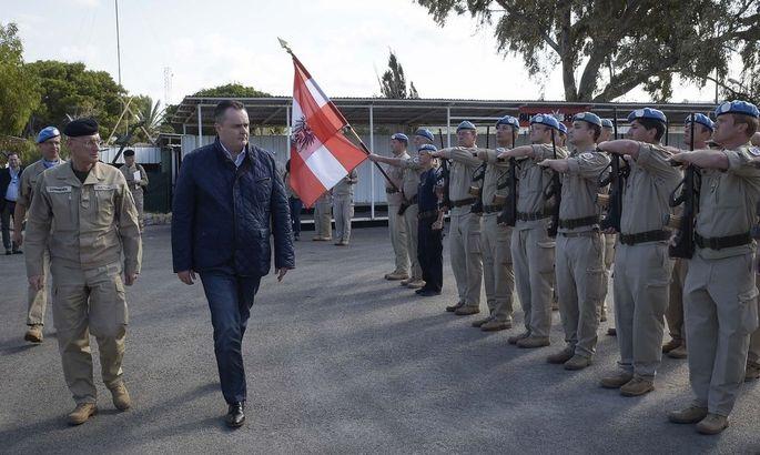 VERTEIDIGUNGSMINISTER DOSKOZIL IM LIBANON: DOSKOZIL/COMMENDA