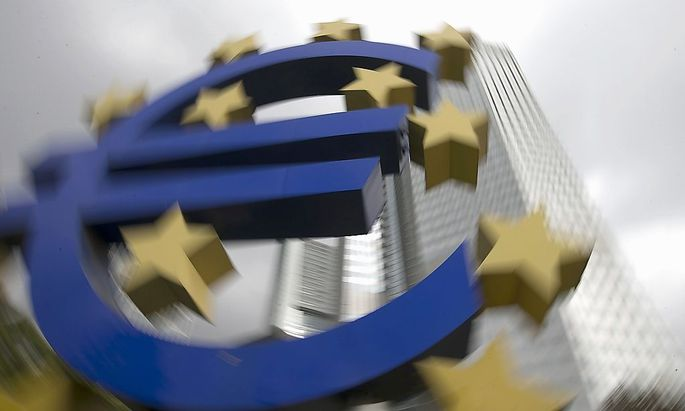 File photo of an euro logo sculpture in front the European Central Bank headquarters in Frankfurt