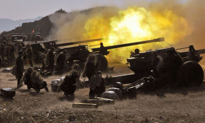 Nordkorea bringt Truppen gegen