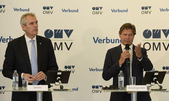 Rainer Seele (OMV) und Wolfgang Anzengruber (Verbund)